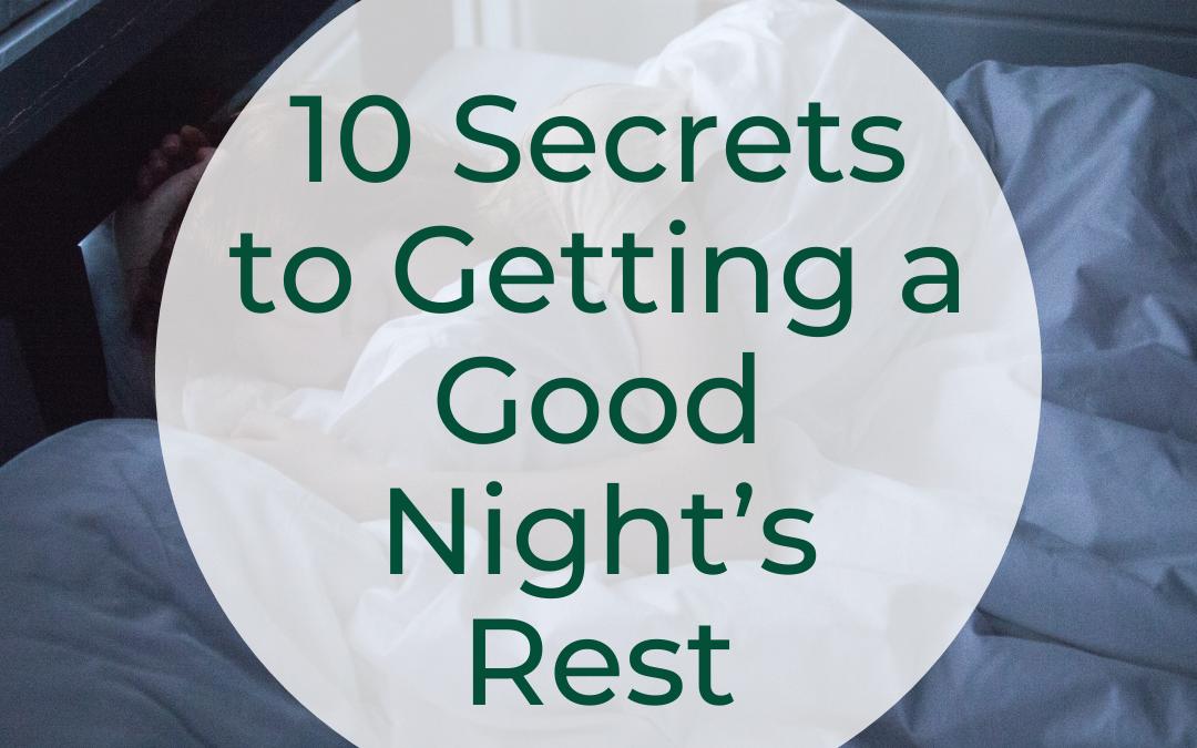 10 sleep secrets blog header