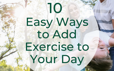 10 Ways to Add Exercise To Your Day – Without Putting on Your Takkies